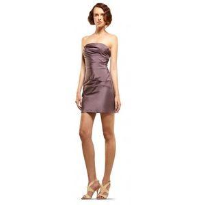 Max Studio Dress Leon Max 100% Silk Plum